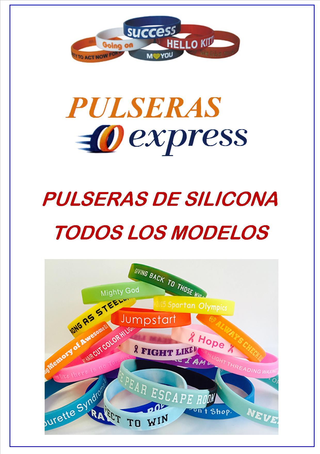 47d8c1e74f82 Pulseras De Silicona - Pulseras Express